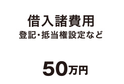 借入諸費用 登記・抵当権設定など 50万円